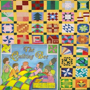 quilt and book