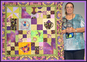 quilter and quilt